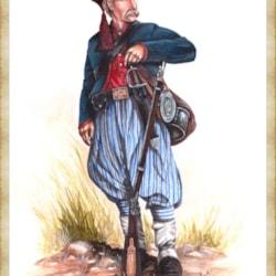 Private 1st Special Battalion Louisiana Tiger Rifles 1862