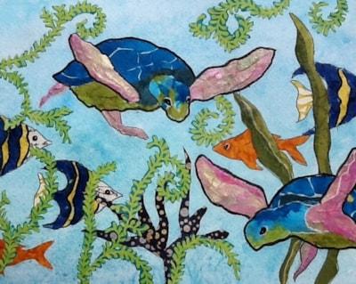 Underneath the deep blue sea
