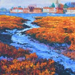 Bosham in the distance, Winter
