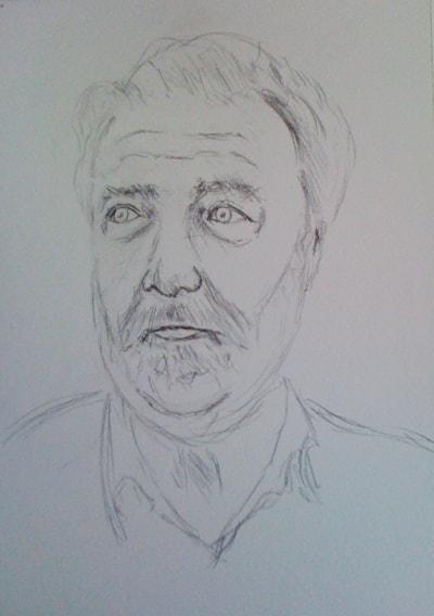Study for self-portrait in watercolour
