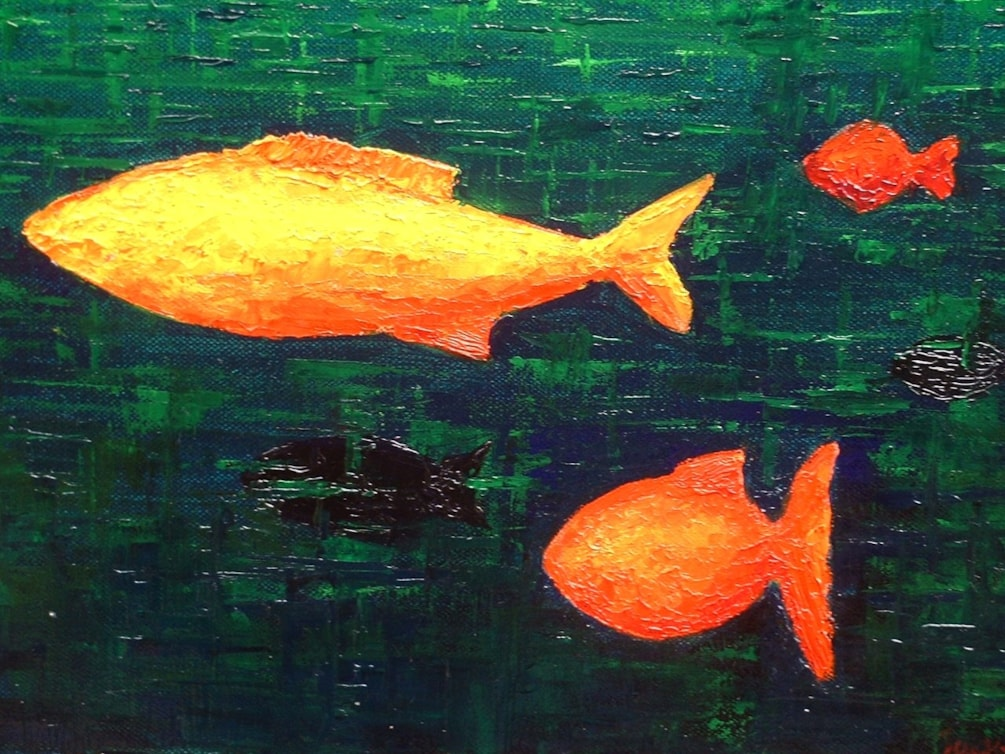 Fish, inspired by Paul Klee 2004