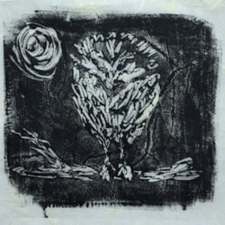 Little Owl - Monoprint