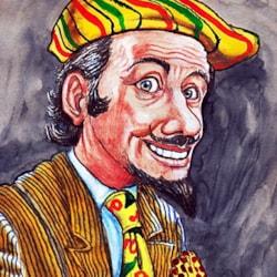 Mr Flamboyant.  (Strathmore Tan Sketchbook)