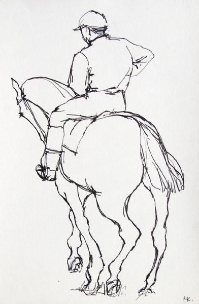 Jockey sketch