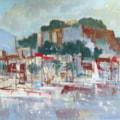 Denia Harbour – Plein air oil sketch.