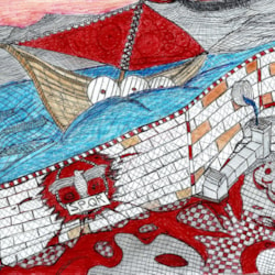 Fantasy - sailing the rough sea