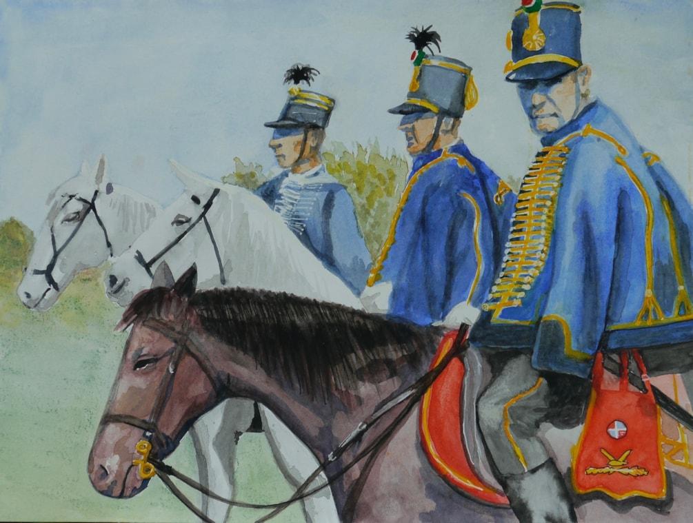 Hungarian Hussars at National Gallop day.