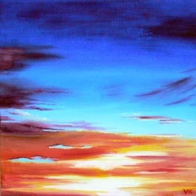 Sunset over Tillicoultry