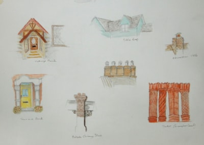 BUILDINGS IN THE LANDSCAPE COURSE------   PORCHES AND CHIMNEYS