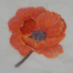 A VERY LARGE POPPY CHINESE STYLE