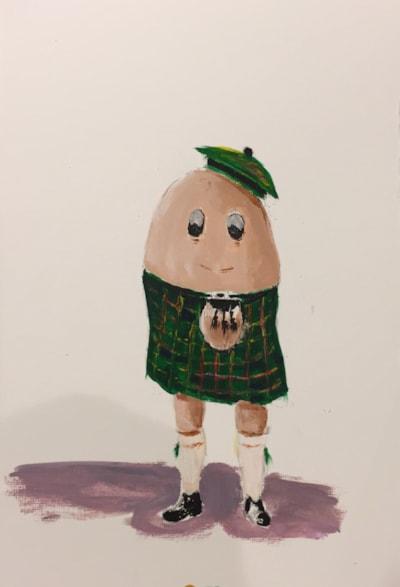 Doodles for a friend 1 - Scotch Egg