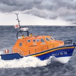 RNLI vessel on a rescue mission
