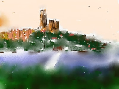 Durham City sunrise