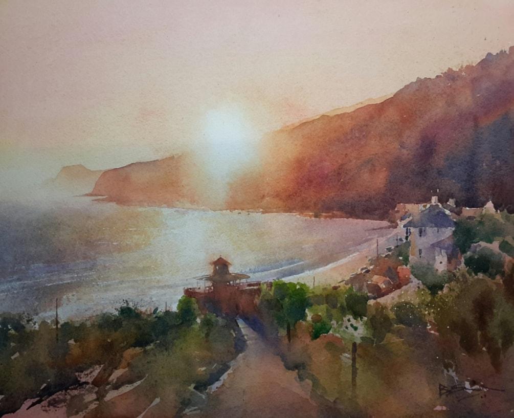 Autumn Sunset, Ventnor