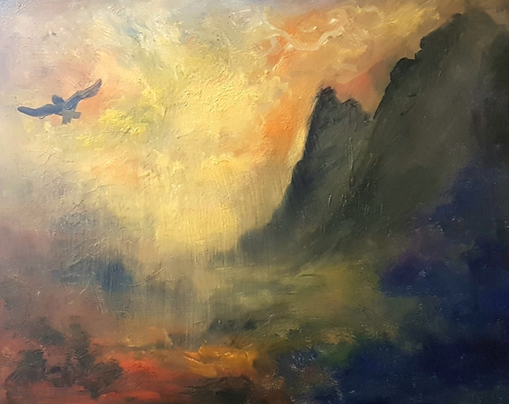 An eagle in flight