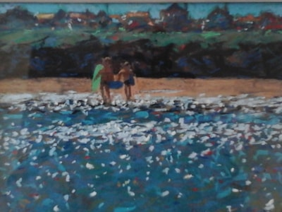 surfing seaside hayle cornwall .. SOLD