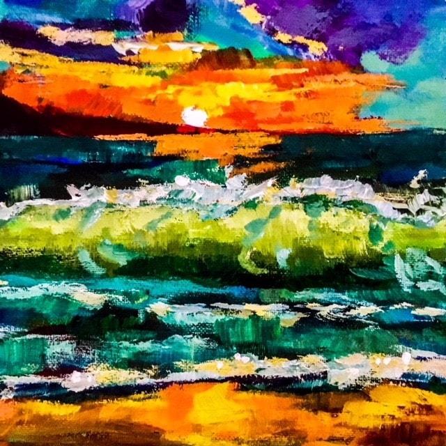 Sunrise - Jurassic Coast Dorset - 'An Impression'!