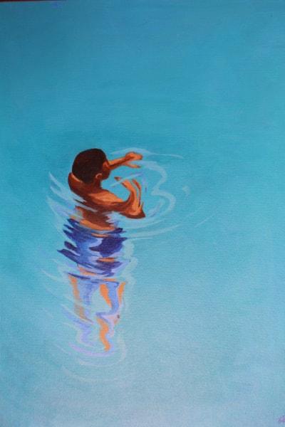 "Brother of Melusine. 2015. Acrylic on canvas, 12x16"""