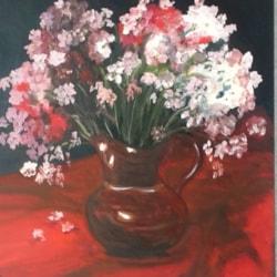 Oleanders in the little brown jug.