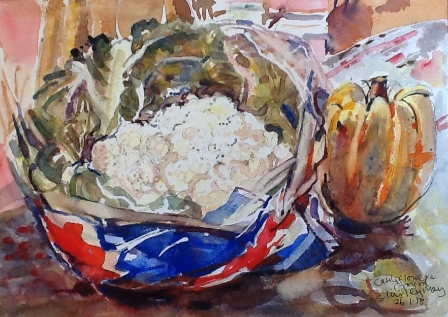 Cauliflower and gourd