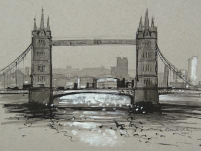 Tower Bridge - June Monochrome Challenge.