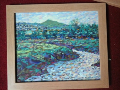 glastonbury tor and levels with the river brue SOLD