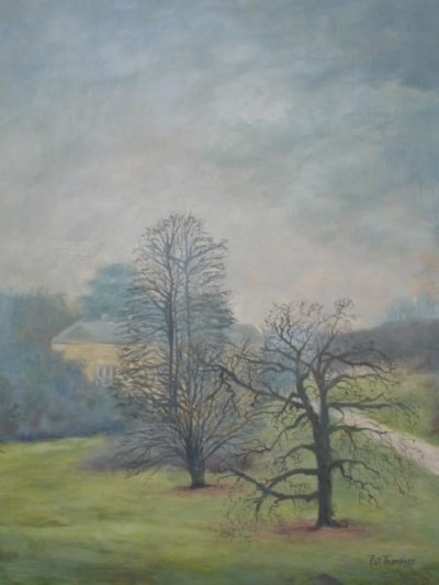 Mist over Sledmere House East Yorkshire