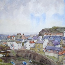 Staithes from Cowbar.