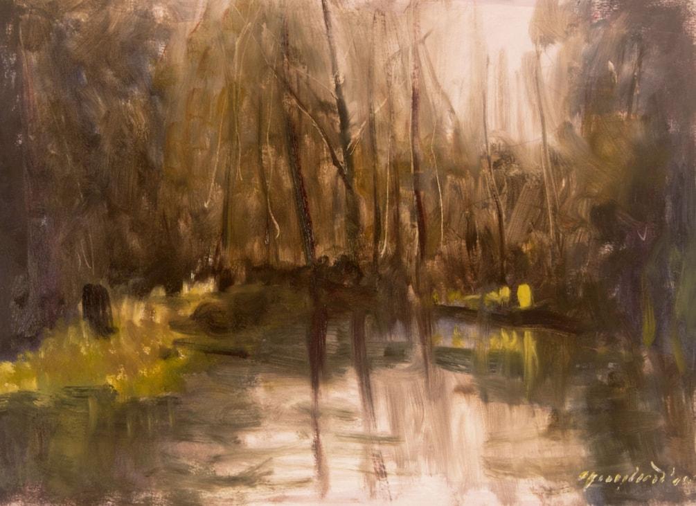 Test River plein air sketch