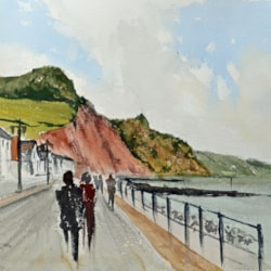 Sidmouth Promenade and Town - Steve Hall workshop Day 2