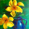 'Daffodils and Blue Jug',(obvious title).