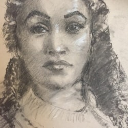 Study in charcoal