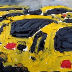 "Original Oil Painting- ""New York City Taxi"""