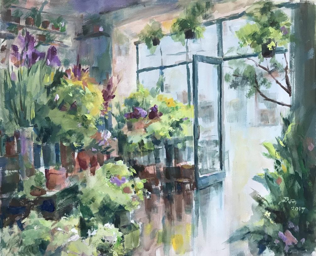 Green Room Cafe London (hidden in a flower shop)