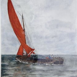 """MERSEY FLAT """"SPECULATOR"""" OUT FROM WESTON PORT"""