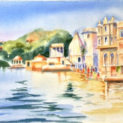 The Bathing Ghats at Udaipur