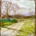 Simple pastel landscape.