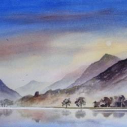 8. Dolbadarn Castle, Snowdonia --Watercolour