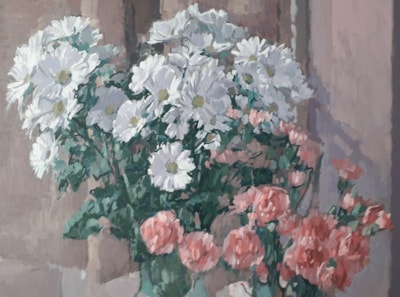 White and Pink Flowers