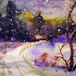 The last snowfall-wishing