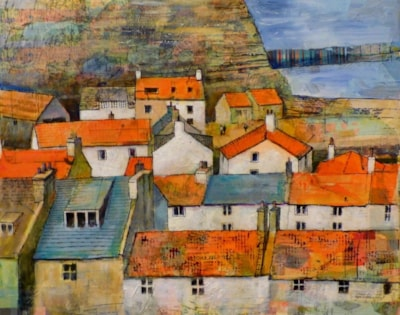 Staithes Rooftops from Mount Pleasant
