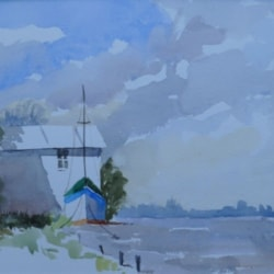 River boathouse, Suffolk