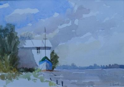 River boathouse, Suffolk