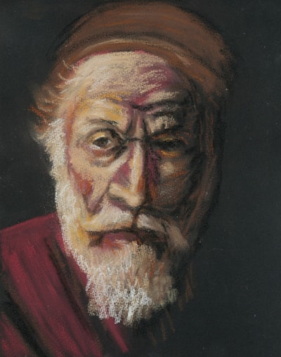 After Rembrandt, Portrait of an Old Man in Red @ the Hermitage, St Petersburg.