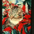Christmas Window Cat