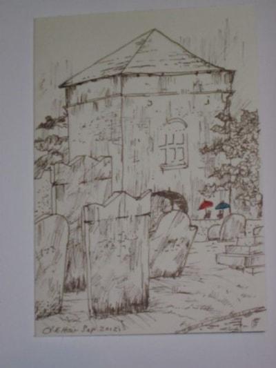 Portchester Castle Landgate rain
