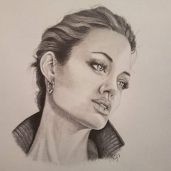 Angelina Jolie Portrait - Graphite 2017