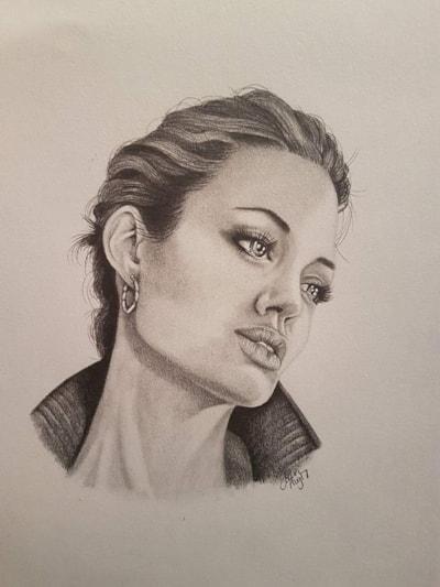 Angelina Jolie Portrait - Graphite 2017