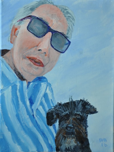 The Man with the Small Black Dog