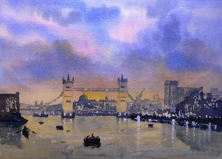 The Thames at twilight